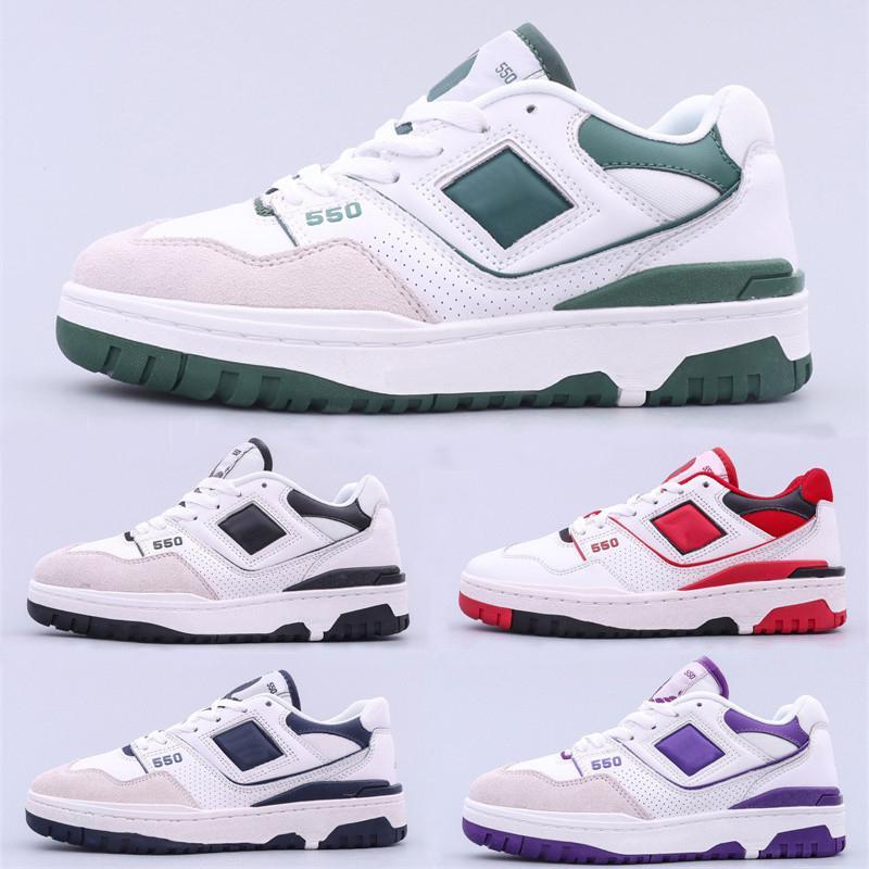 2021 BB550 550 Basketball Designer BB550WT1 Skate Shoes White Green Navy Blue Sea Salt Men Women Trainer Sports Low Top Sneakers eur 36-45
