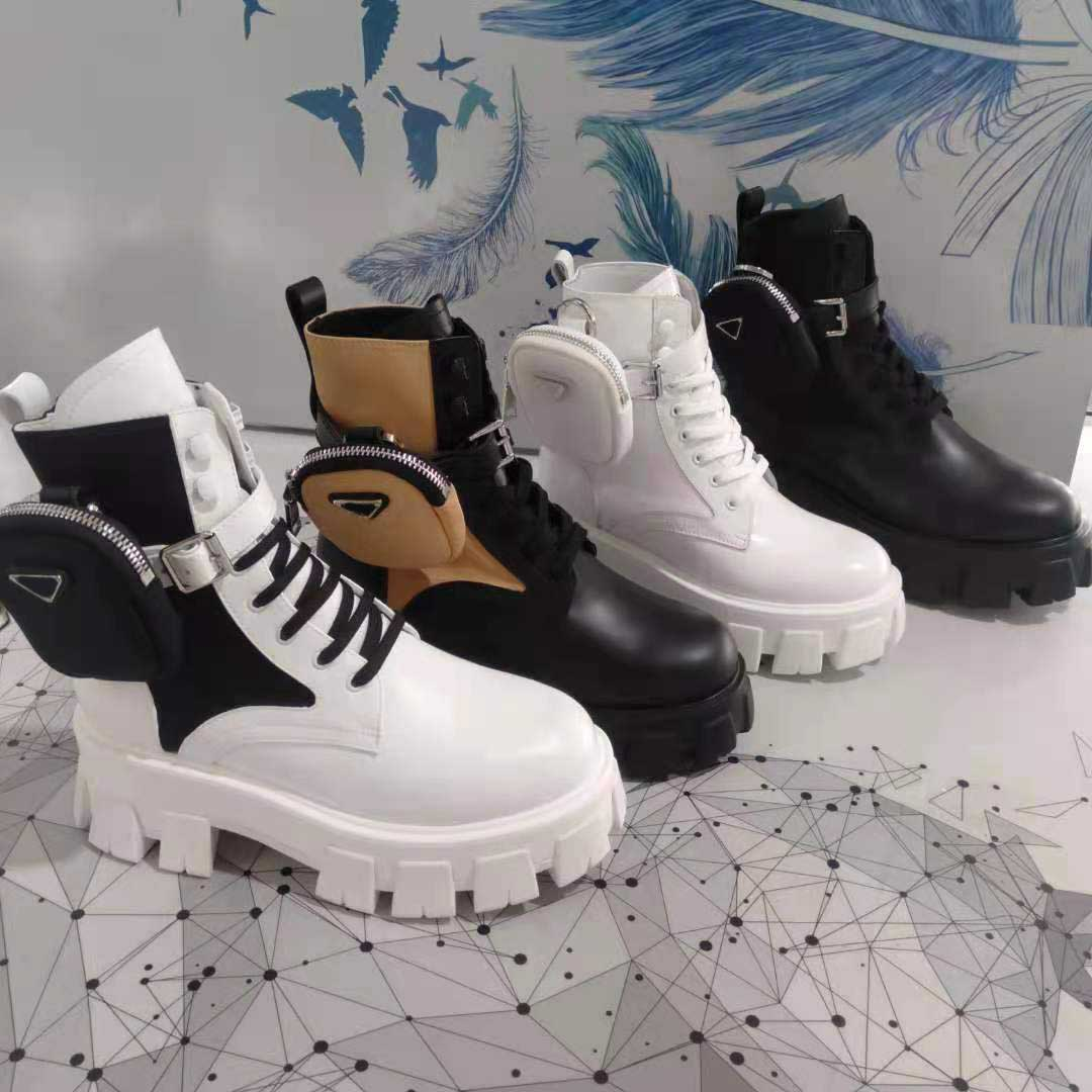 Monolith Designer Boots Ankle Nylon Pocket Black Boot Martin Winter Thick-Soled Shoes Wear-Resistant Rubber High-Top Platform Shoe size 35-45