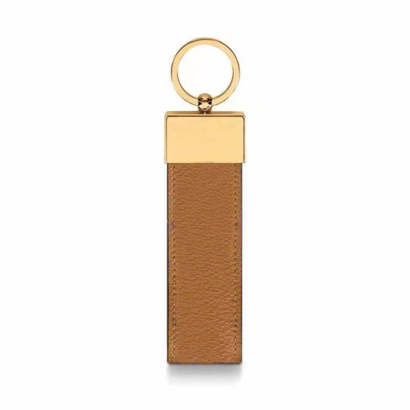 2021 fashion luxury keychain sublimation blank couple car handmade leather designer 10-color male and female key chain accessories