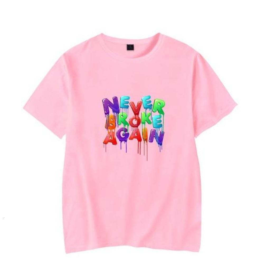 Never Broke Again Colorful Funny Black T-shirt New Fashion T shirt Brand Hip Hop Print Men Tee Shirt