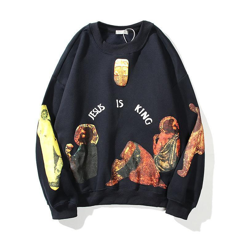 Fried Street sweater 2021 popular spring and autumn men's new salt Japanese hiphop loose top