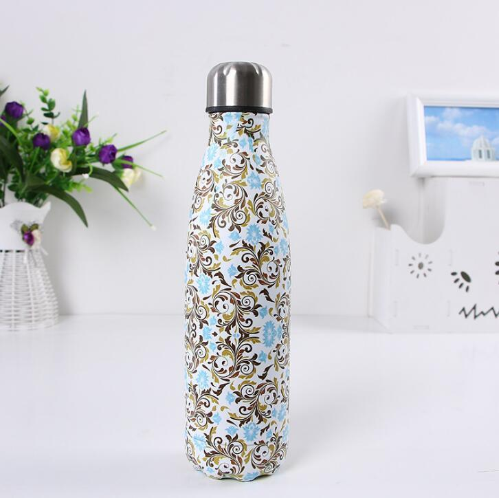 350ml/500ml Cola Shaped water bottle Vacuum Insulated Mugs Travel Water Bottle Double Walled Stainless Steel coke shape