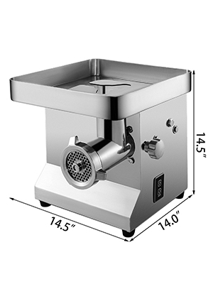 electronic meat grinder, stainless steel, 1100W