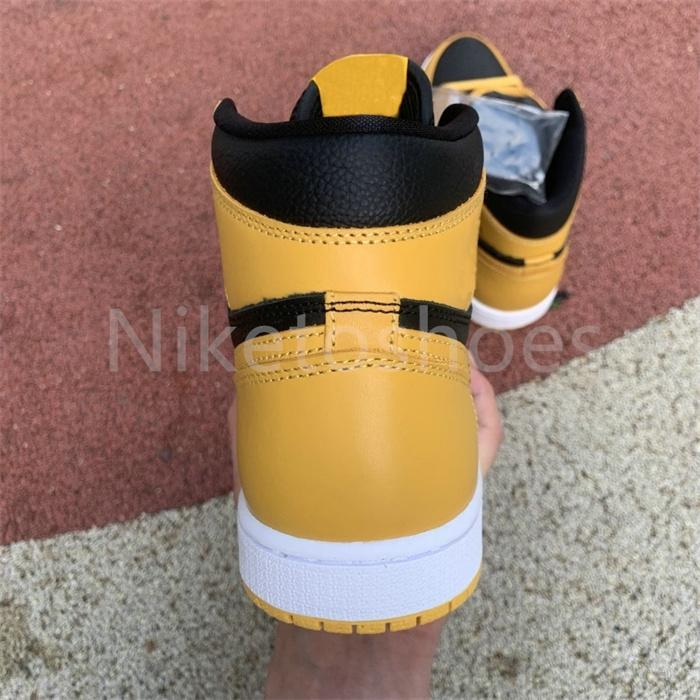 Jumpman 1 High OG Mens Shoe Black Yellow Trainers Sports Sneakers 1S Pollen Basketball Shoes