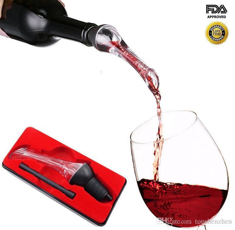 Eagle Wine Aerator Pourer Premium Aerating Pourer and Decanter Spout Premium Wine Decanter Wine Aerator Essential Accessories Tool