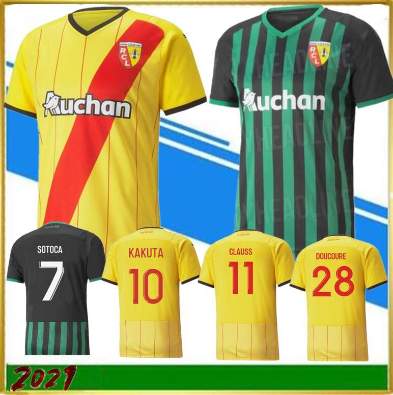2021 RC Lens soccer jerseys maillot de foot FOFANA GANAGO Kakuta Gradit Fortes Perez 20 21 home away third MEN KIDS kit football Shirt