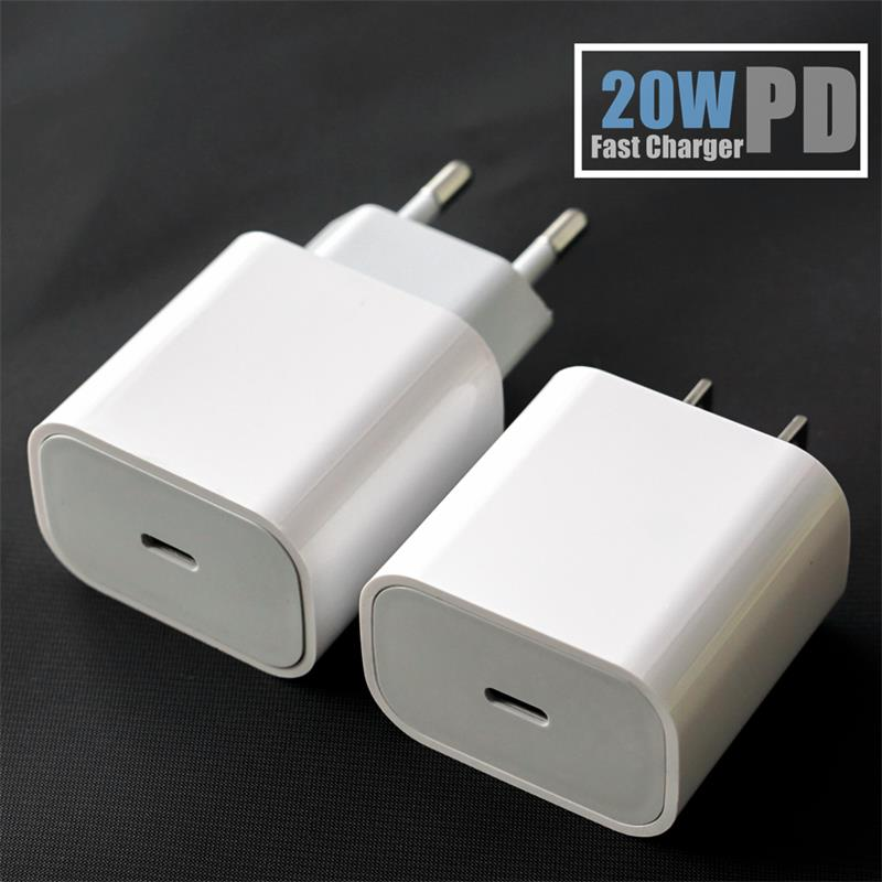 20W PD Charger for iPhone 12 Pro XS Max XR 8 Fast Charging USB Type C Wall Adapter Qucik Charge 3A Compatible with Samsung Xiaomi Huawei