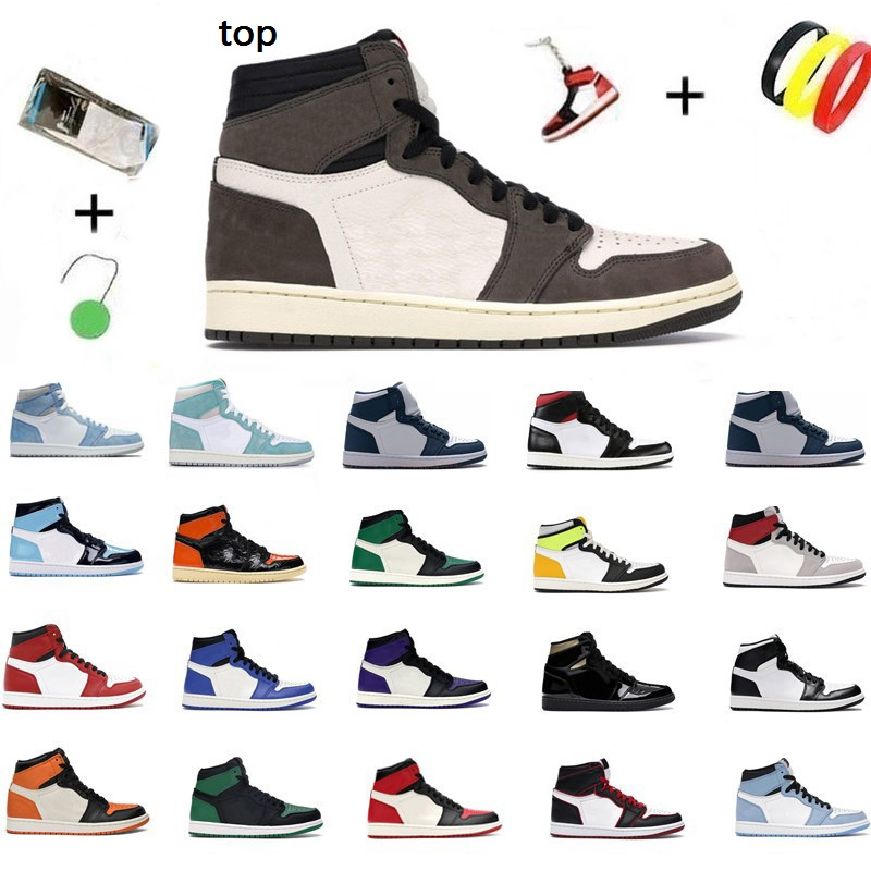 Dunks 2021 JUMPMAN 1 1s Basketball Shoes Mid Digital Pink Barely Orange High OG University Blue Hand Crafted Hyper Royal Seafoam Mens trainers Womens sneakers
