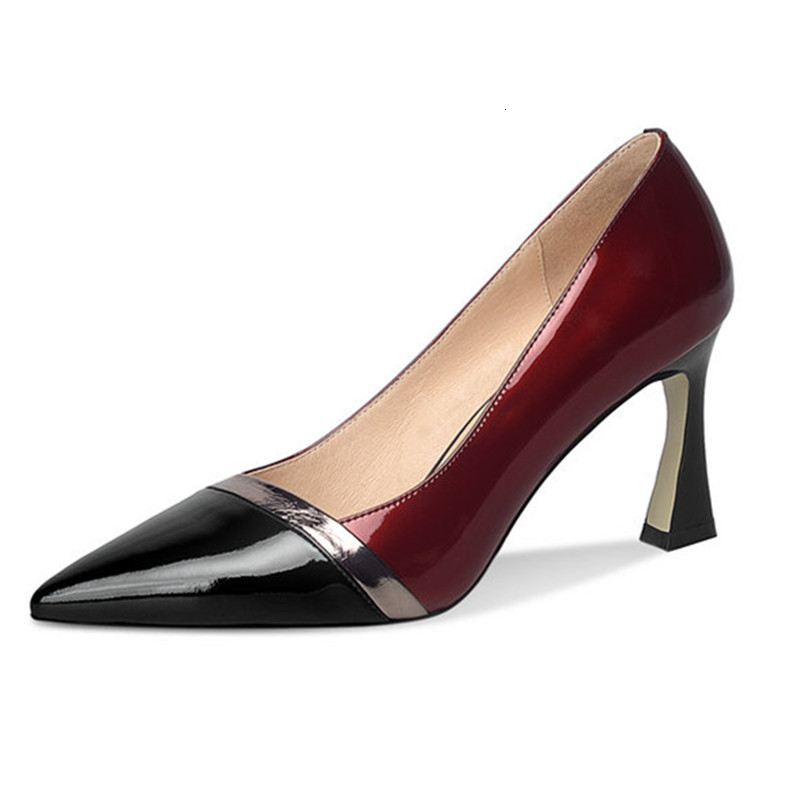 Dress Shoes sexy high heels wedding women shoes High quality genuine leather office ladies OVIC