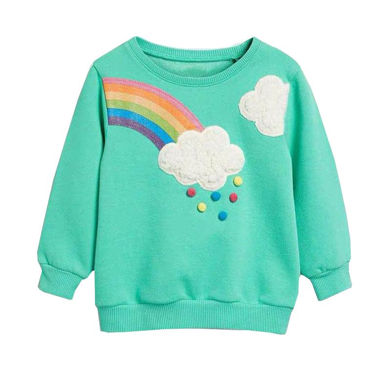 Little maven 2-7Years Autumn Rainbow embroidery Toddler Kids Baby Girl Sweatshirt Children's Little Clothing For Girl's Sweater