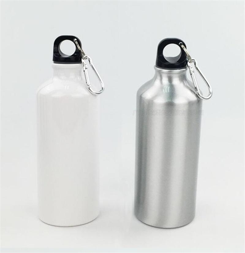 Sublimation Blank Motion Water Bottles Student Pure Color Thermal Transfer Printing Consumables Coating Kettle 600ML 5 7ty J2