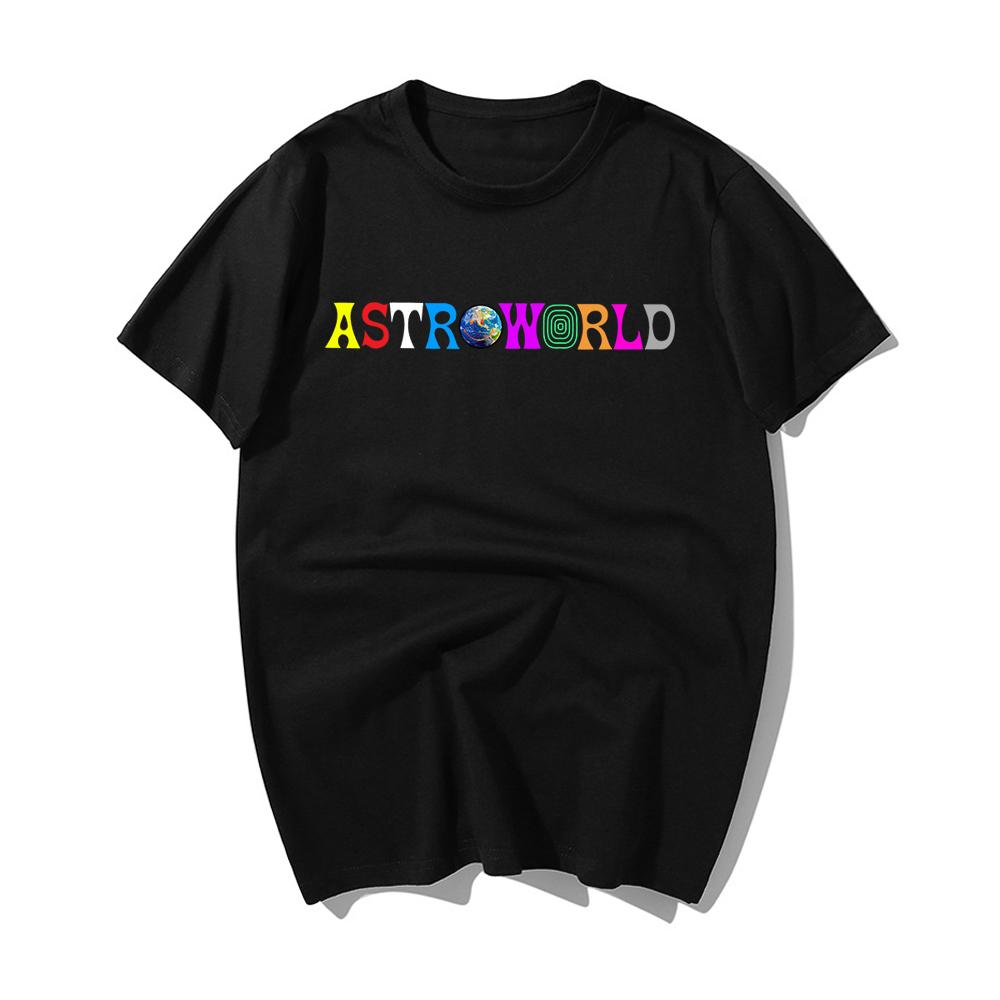 Hot Sale Hip Hop T Shirt Men Travis Scotts Astroworld Harajuku T-shirt You Were Here Letter Print Tshirt Fashion Men Tshirt
