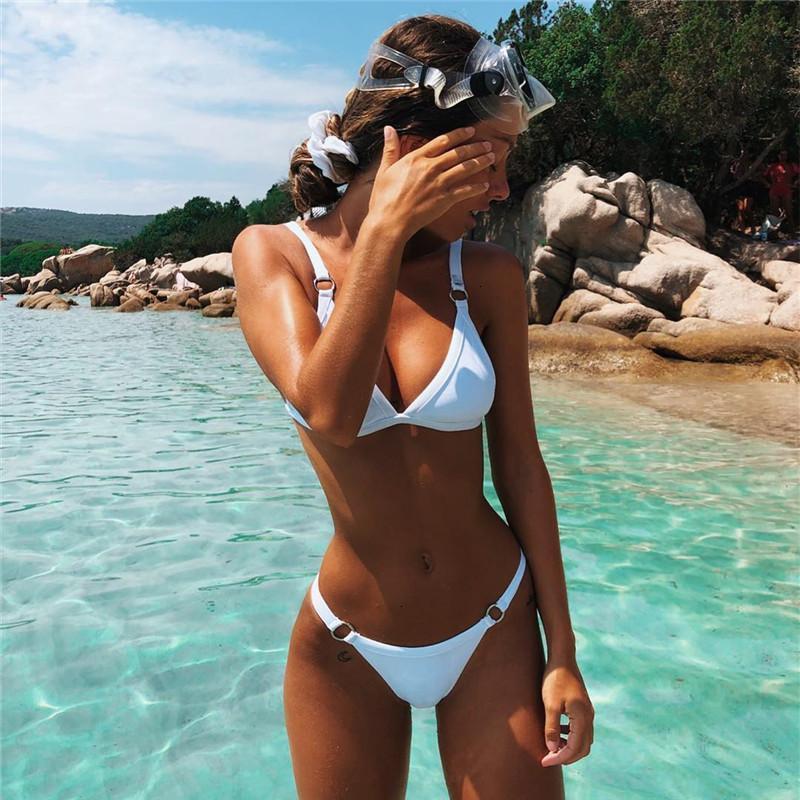 Bikini Designer Swimsuit Swimwear New Swimsuit Sexy Pit Bar Fabric Bikini Popular Split Swimsuit White Yellow Red Black