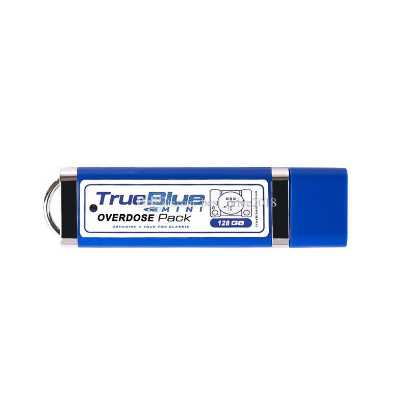 True Blue Mini-Overdose Pack for PlayStation Classic 128GB can store 203 Games Accessories Hot 2-player games