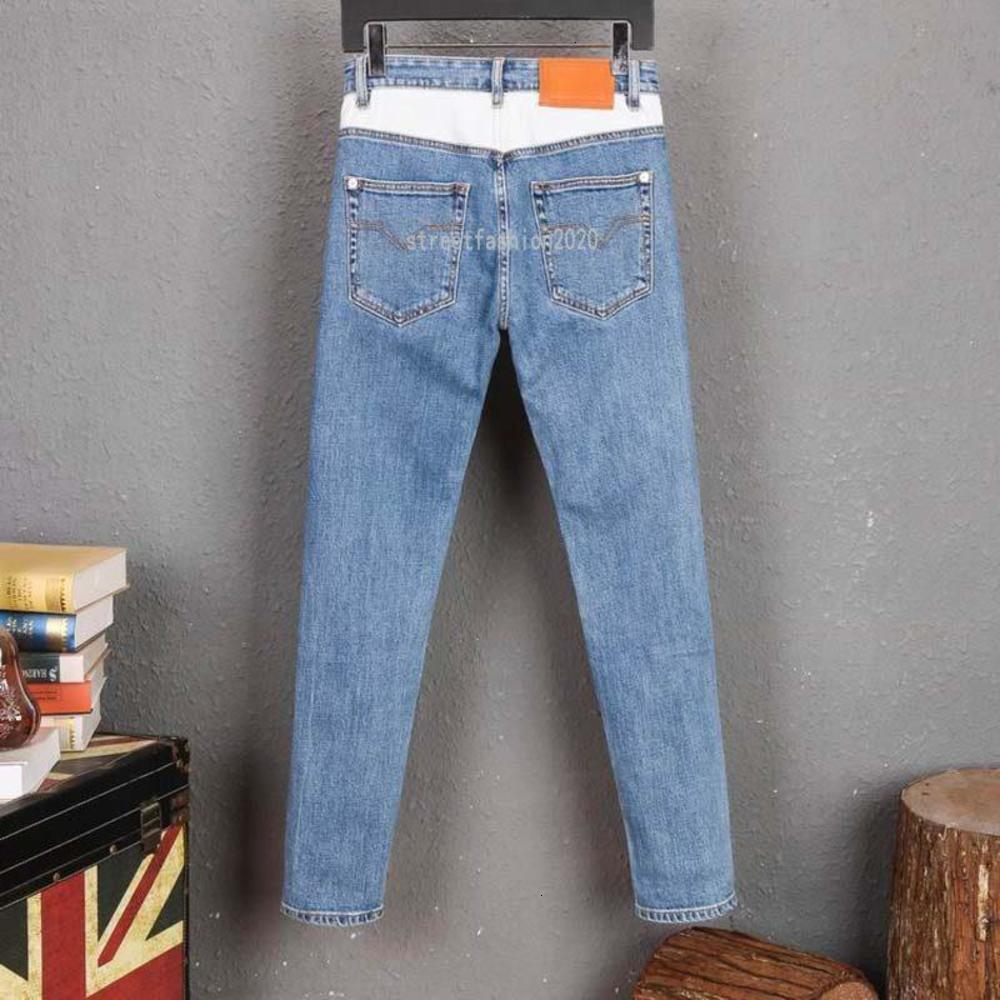 High quality Mens designe jeans Distressed Motorcycle biker jeans Rock ny Ripped hole stripe Famous Brand Denim pants