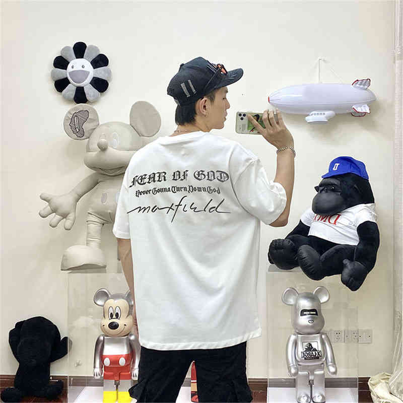 21ss Europe USA 7th Spring Summer Casual Graffiti Letter T Shirt Skateboard Tshirt Men Women Short Sleeve streetwear Tee