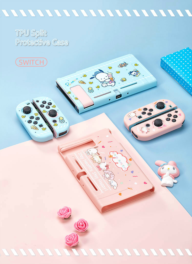For Nintend Switch Case Cute Cartoon Full Cover Shell Joy-Con Controller Shell Hard TPU Cover Box For Nintend Switch Accessories 210317