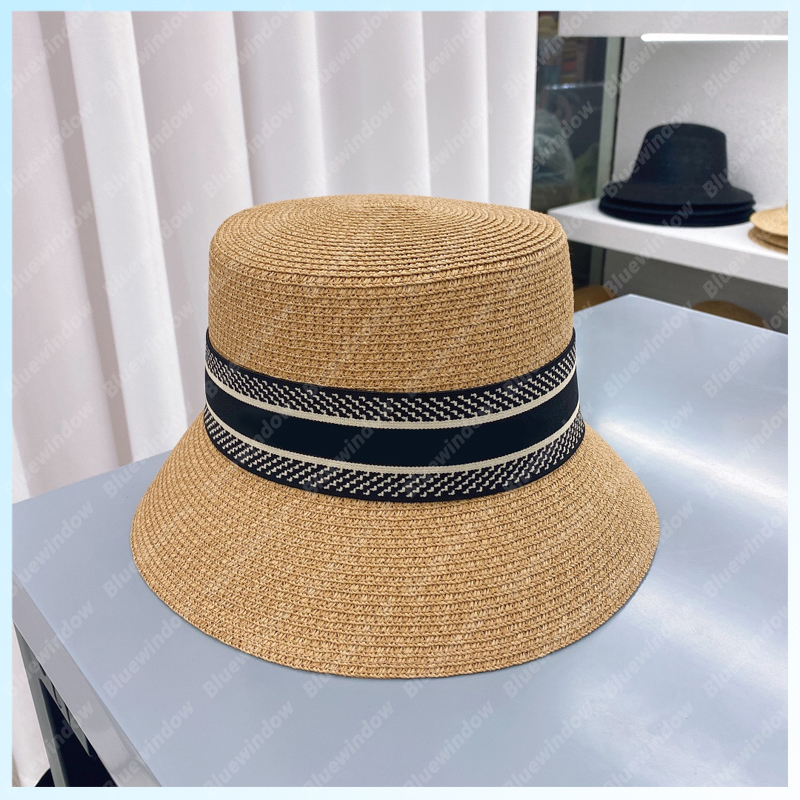 Fashion Straw Hat Women Bucket Hat Men Hats Luxurys Designers Caps Hats Mens Bonnet Beanie Cappelli Firmati Summer Hat Cap Mütze B2105171L