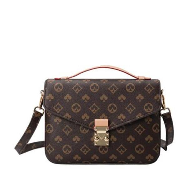 1-23 luxurys women handbag messenger bag oxidizing leather POCHETTE elegant shoulder bags crossbody shopping tote