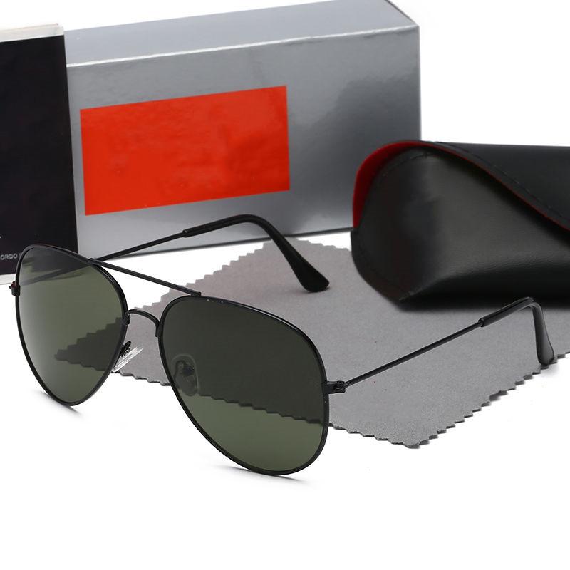high quality Designer sunglasses men women classical sun glasses aviator model G15 lenses Double bridge design suitable Fashion beach driving fishing Eyewear