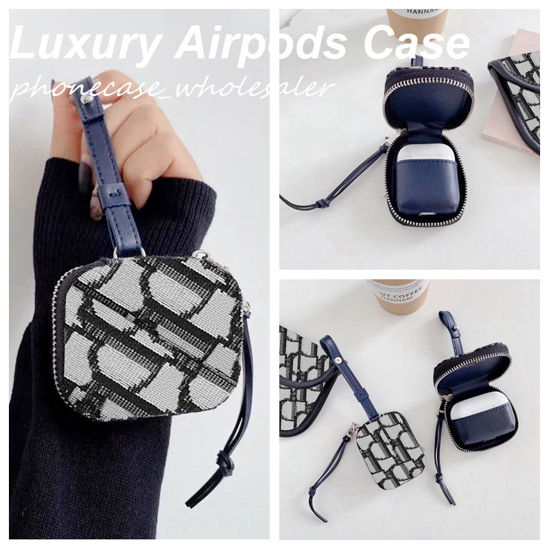 Fashion Textile AirPods cases for Airpod 1 2 Pro 3 with Luxury Brand D case bag 051520