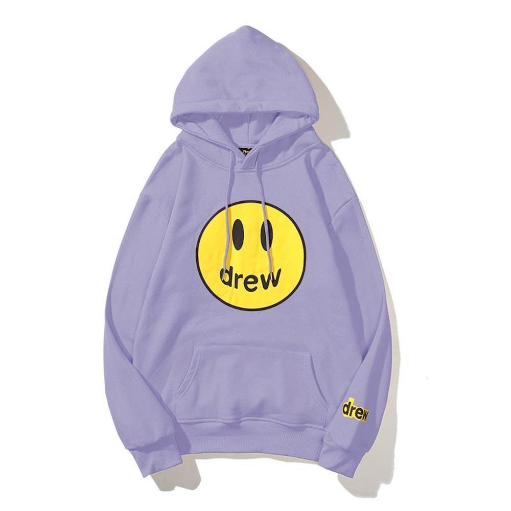 Unisex Hoodies Men Drew Smile Printing Long Sleeve Hoodie Women House Style Winter Fleece Sweatshirts Size M-XXL
