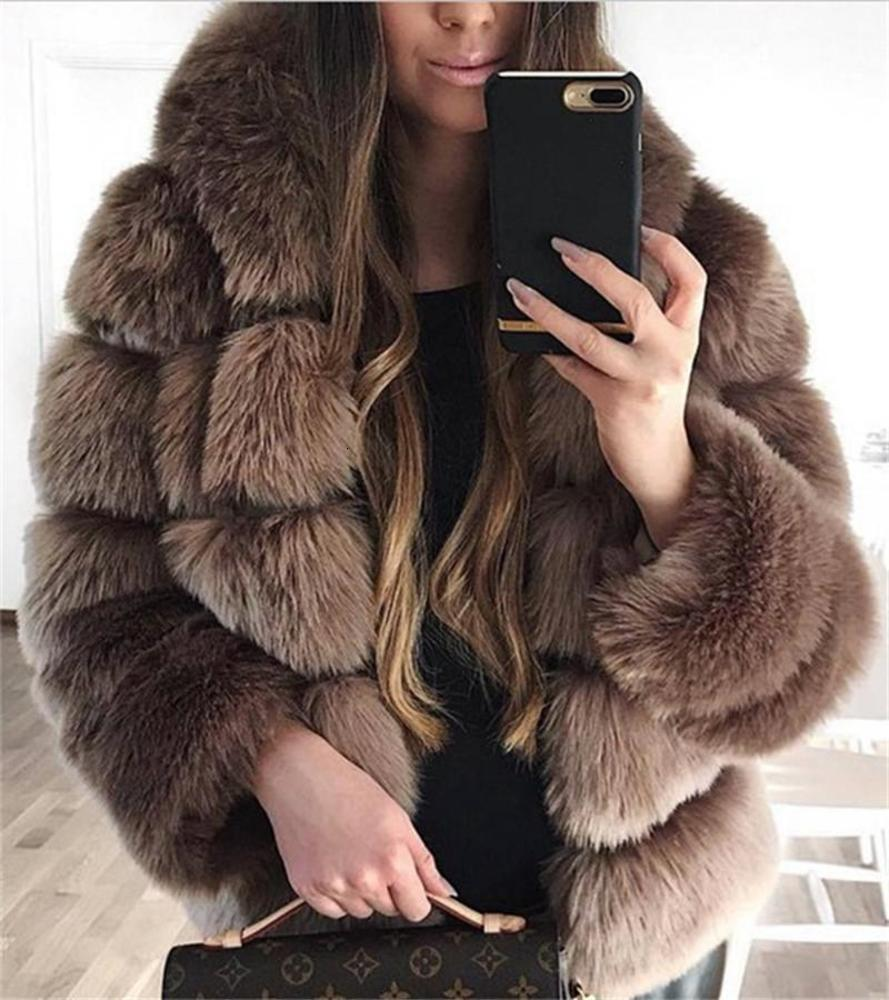 Winter Women Designer Coats Fashion Skim Medium Long Fur Neck Warm Coats with Sashes Casual Women Apparel