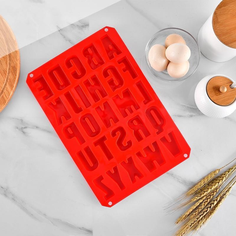 DIY Cake Silicone Mold Chocolate Cookies Ice Lattice Moulds Red Kitchen Baking Decorating Supplies Mould Rectangle 9 42xt G2