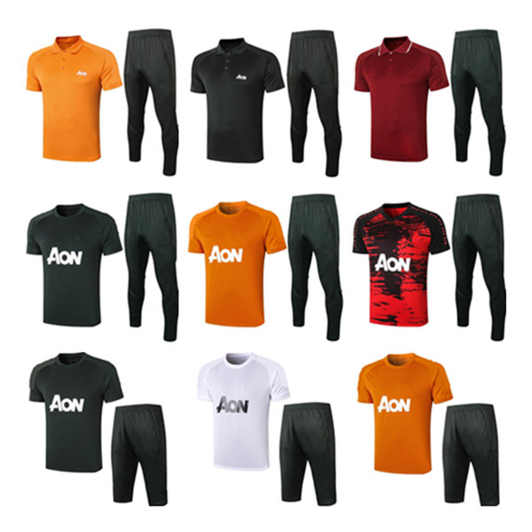 2021 Polo shirt training suit men MARTIAL RASHFORD football sportswear foot jogging POGBA United Soccer Tracksuit top quality