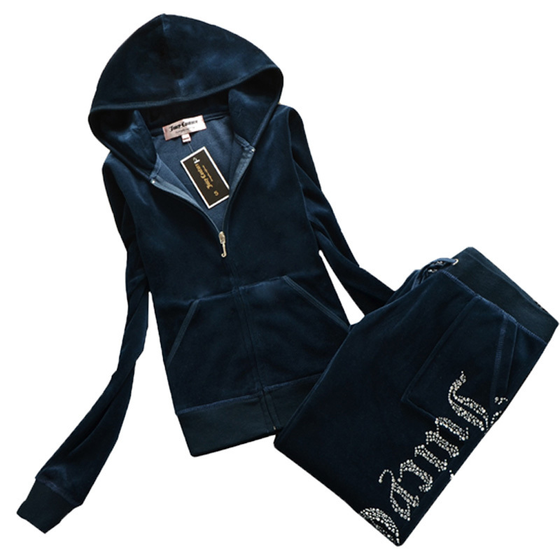 Juicy Tracksuit Velvet Tracksuit Women Two Piece Pants Set Sportswear 2021 Fall Winter Coutoure Tracksuit Women Chandals Mujer