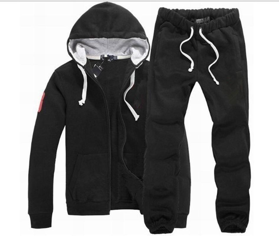 2021 hot sell Men's Polo Men S-2XL Sportsman Set Sweatshirt Pants Sportswear Suit And bigHorse Joggers Hombre Pullover Hoodie Trouser