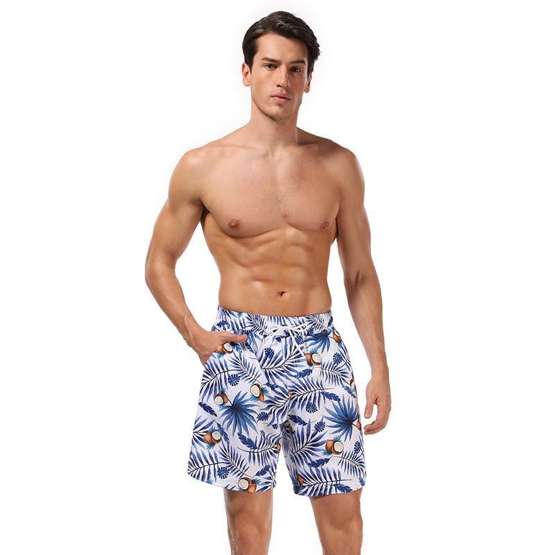 2021 Summer Family Matching Swimsuit 2-pcs Sets Floral Leopard Swimming Trunks Father Son Clothes E72
