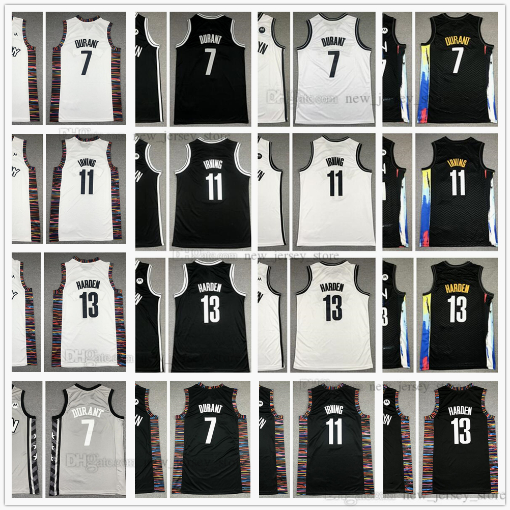 Youth Boys Mens Basketball 7 Kevin 11 Kyrie Durant Irving Jerseys Stitched James Kids 13 Harden Jersey