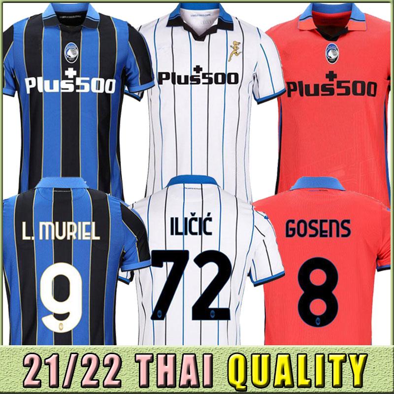 New 21-22 Atalanta FC Soccer Jerseys GOMEZ 2021 2022 L.MURIEL ILICIC DE ROON DUVAN Atalantas Jersey Men kids kit Football Shirts Uniforms thailand