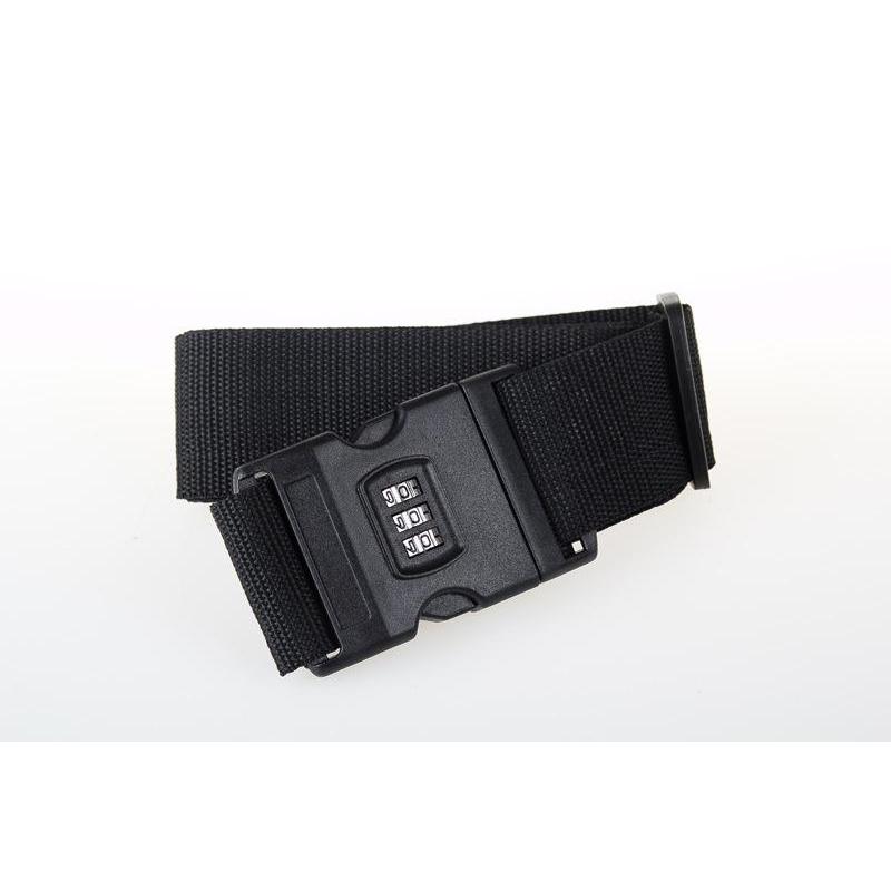 Luggage Strap Cross Belt Packing Adjustable Travel Suitcase Nylon 3 Digits Password Lock Buckle Strap Baggage Belts