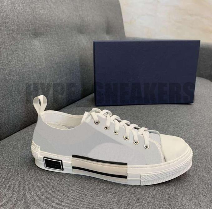 B22 B23 Casual Shoes Women Men Luxurys Designers High Low Sneakers Oblique Trainers Embroidery Printed Alphabet Canvas Shoe