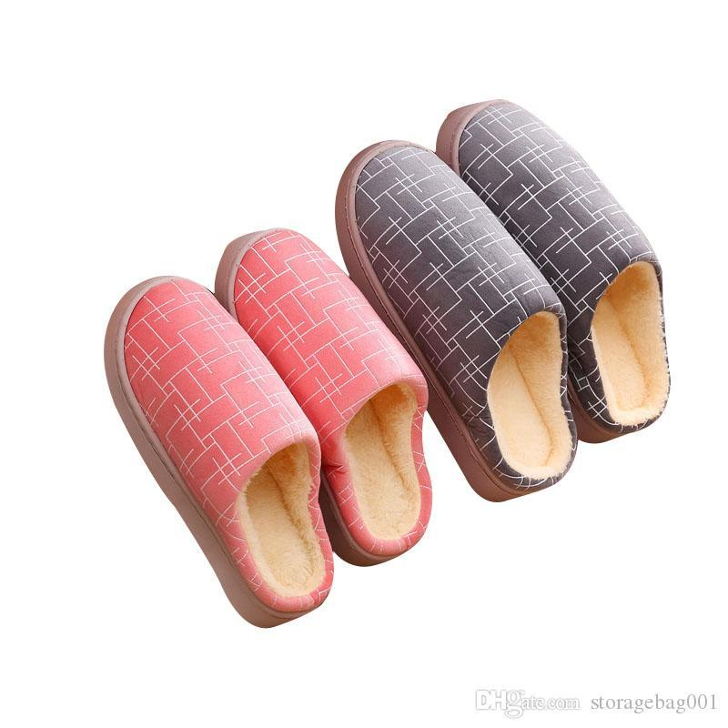 Striped women Slipper Soft Home Slippers Warm Cotton Shoes Women Indoor Slippers Slip-On Shoes for Bedroom House