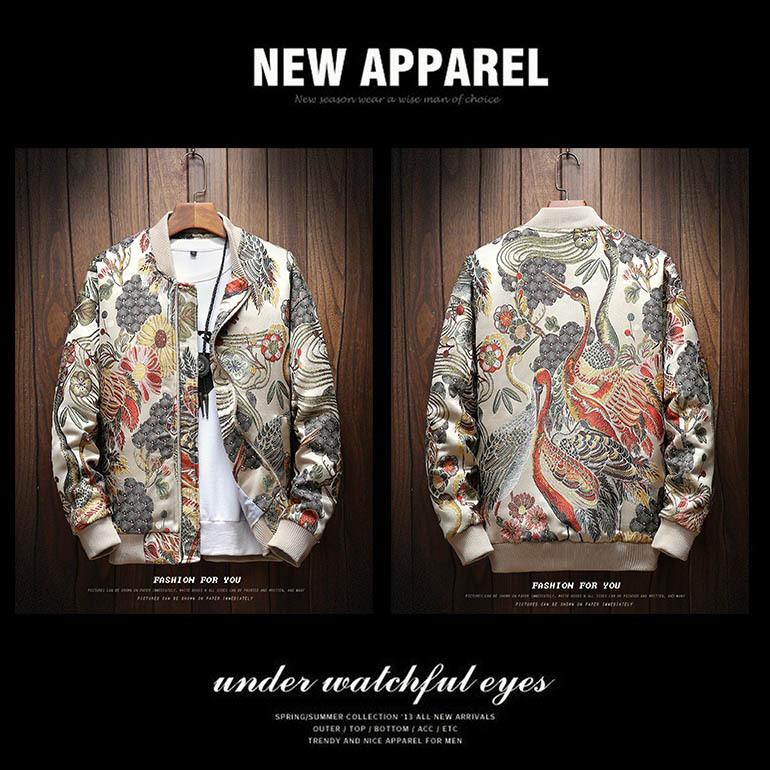 20ss Mens jacket men coats pull de luxe windbreaker men design clothes Stand Collar Zipper Panelled Print Pattern sports sportswear High qu
