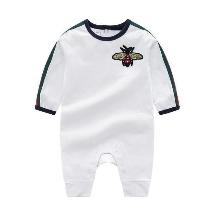 INS Baby Clothes Baby Rompers Spring Autumn New Romper Cotton Newborn Baby Girls Boy Kids Designer cartoon Bee Infant Jumpsuits Clothing