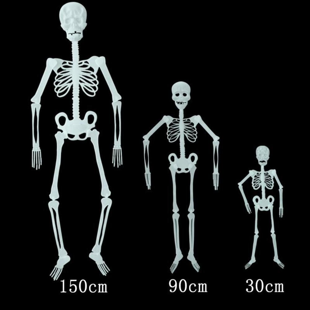 Halloween Horror Luminous Skeleton Glow In The Dark Halloween Props Haunted House Bar Outdoor Yard Hanging Decorations Toys Gifts