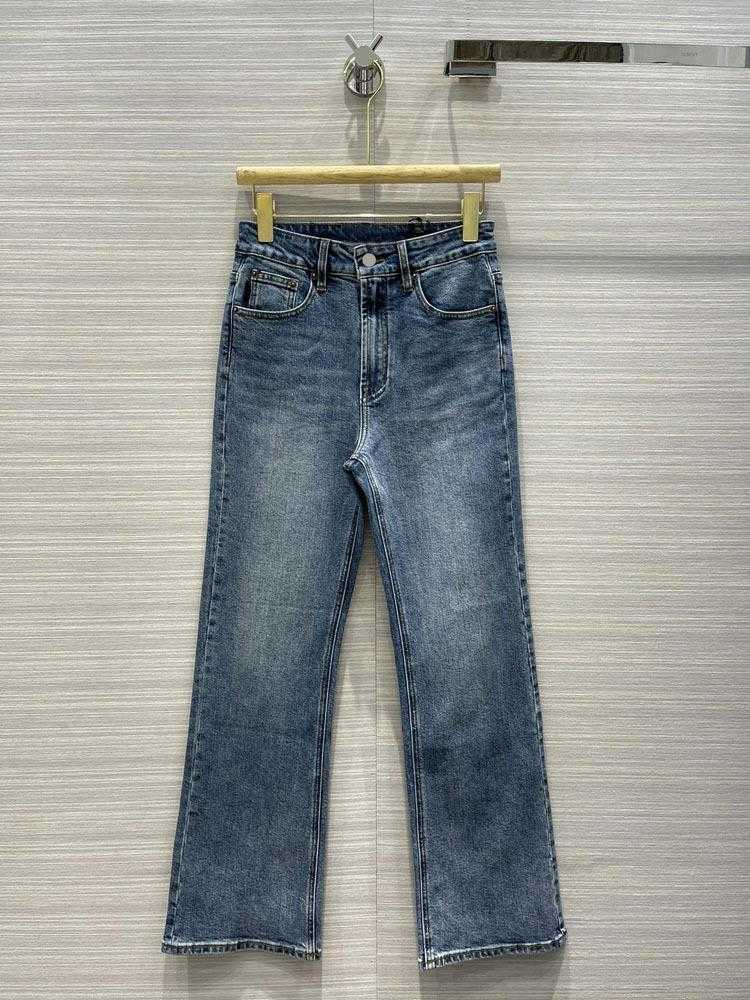 Milan Runway Jeans 2021 New Fashion Designer Flare Jeans Brand Same Style Luxury Women's Jeans 0325-5