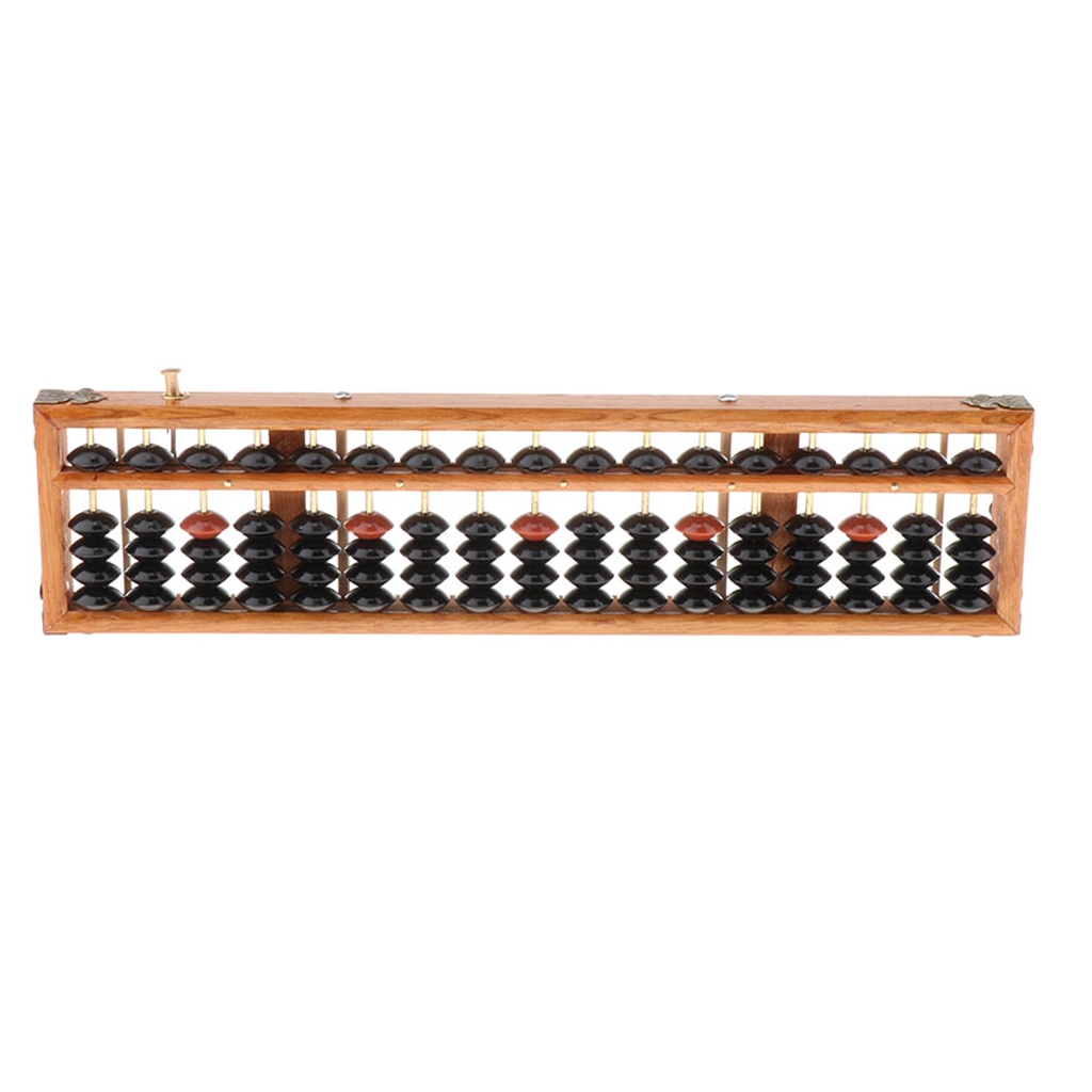 17 Digit Rods Standard Abacus Soroban, Chinese Japanese Calculator Counting Tool, for Kids Toddlers and Adults