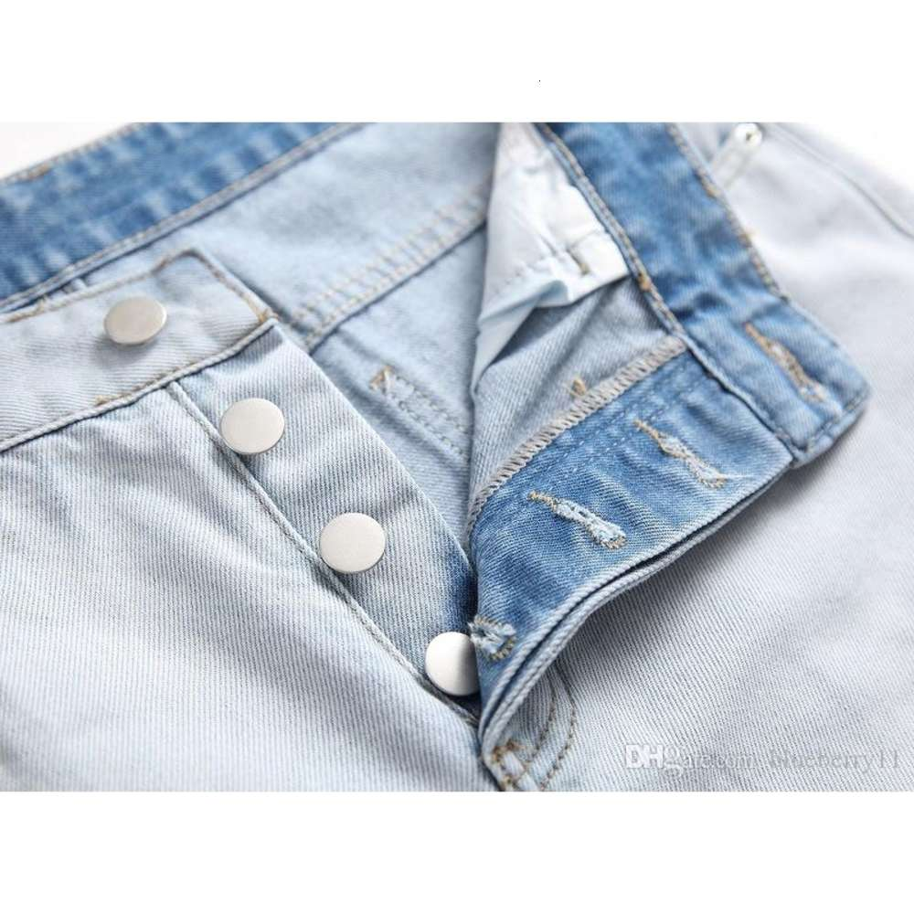 European and American Street Personality Big Hole Tide Men's Jeans Wear White Beggar Jeans Fashion Men's Clothing