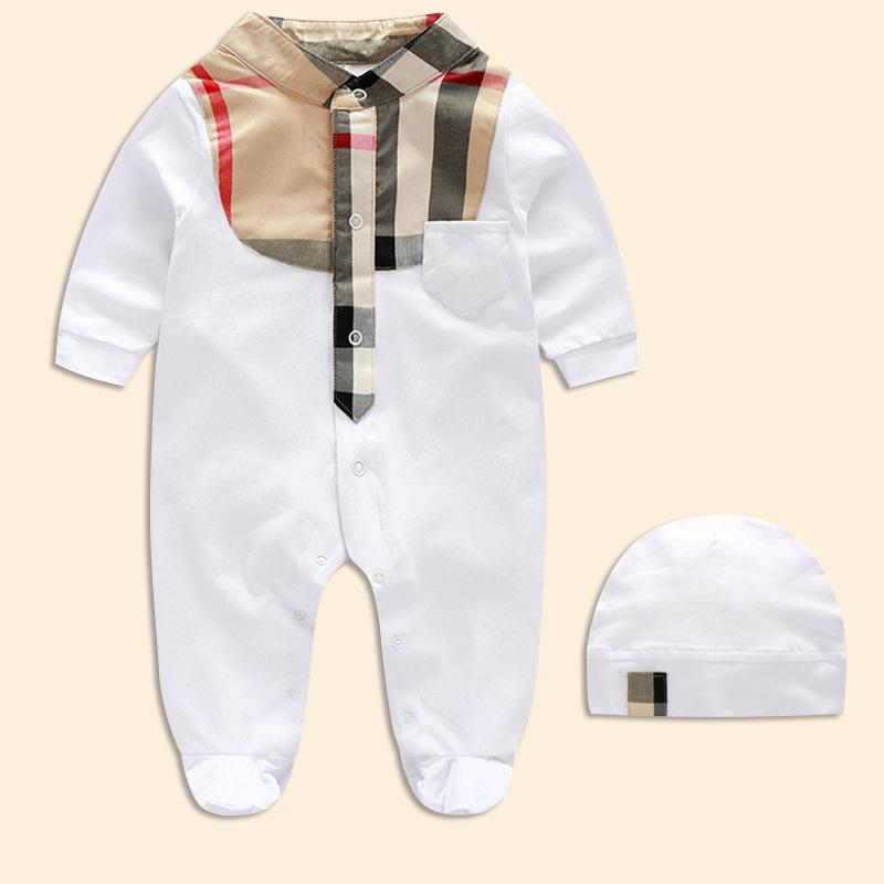 Baby Boy Romper Spring Autumn Newborn Clothes Cotton Newborn Baby Girls Boy Kids Designer Long Sleeve Clothes Infant Jumpsuits