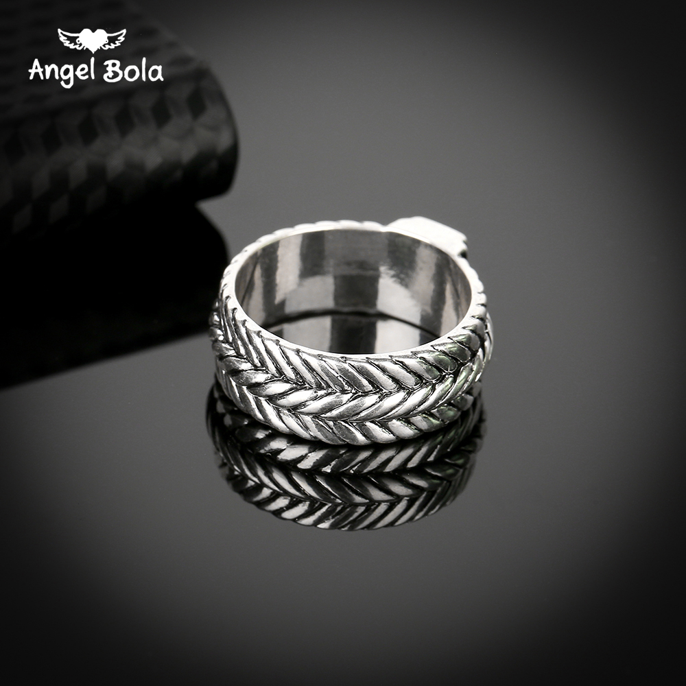 DHgate coupon: New Store Ancient Silver Buddha Ring Personality Wide Chain Knitting Ring Exagerrated Fashion Jewelry Free Shipping