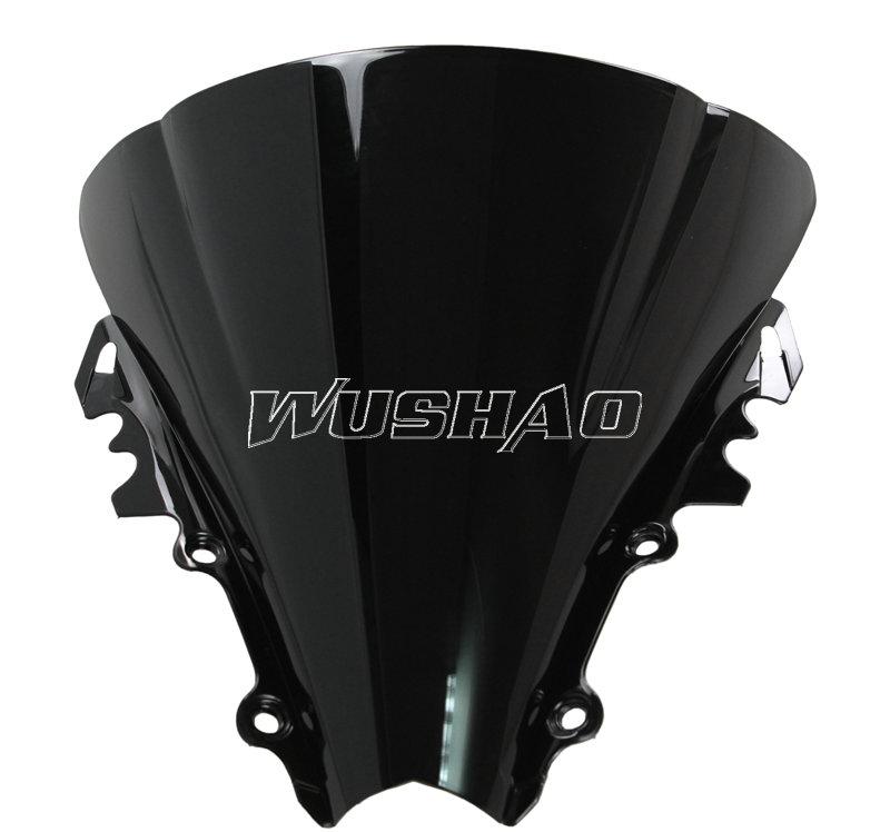 For Yamaha YZF600 R6 2003 2004 2005 black Windshield WindScreen Double Bubble yzf 600 r6 03 04 05 CC YZF