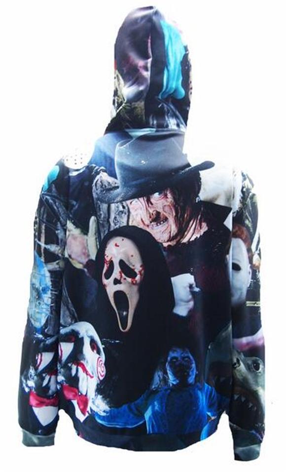 SKULL PocketFelpa Spettrali Spaventoso Costume Di Halloween Clothing