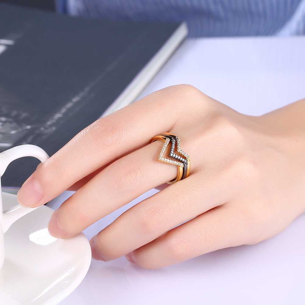Personality Design Gold Set Rings Women's Triangle Ring Set Fashion party Rings Jewelry Accessories