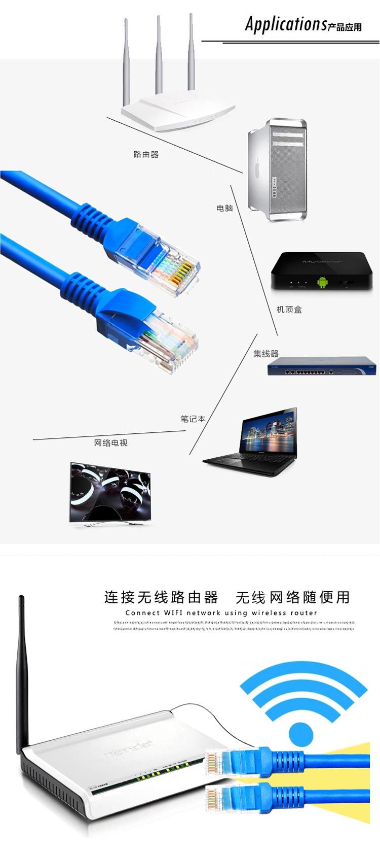 Connectors 50FT 15M RJ45 CAT5 CAT5E Ethernet Internet LAN Network Cord Cable Z09 Cable Length: 15m