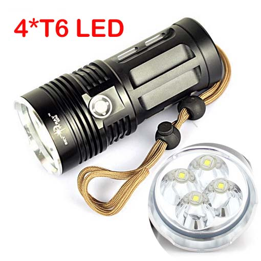SkyRay 17000Lm 7x CREE XM-L T6 LED Flashlight Torch Lamp 4x18650 Battery Charger